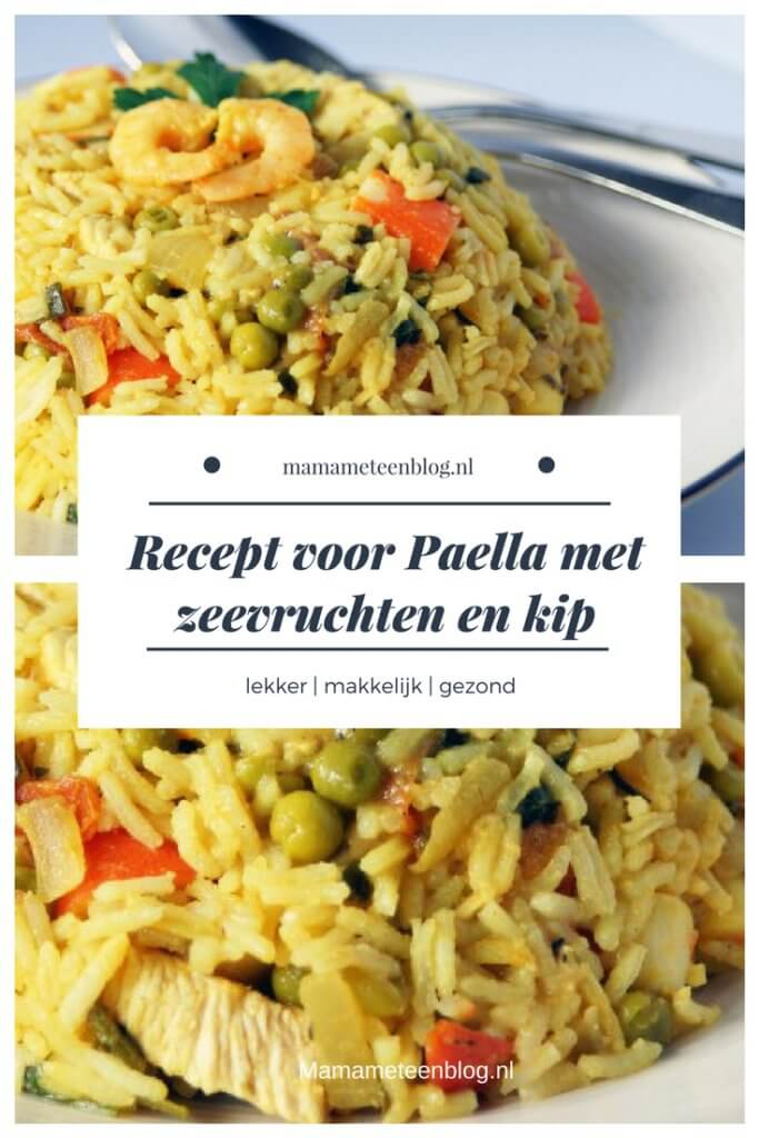 recept paella garnalen en kip mamameteenblog.nl