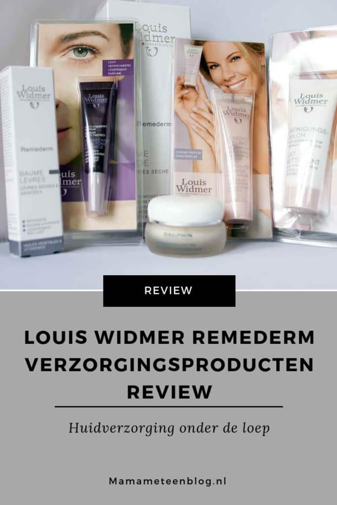 Louis Widmer Remederm verzorgingsproducten Review mamameteenblog.nl
