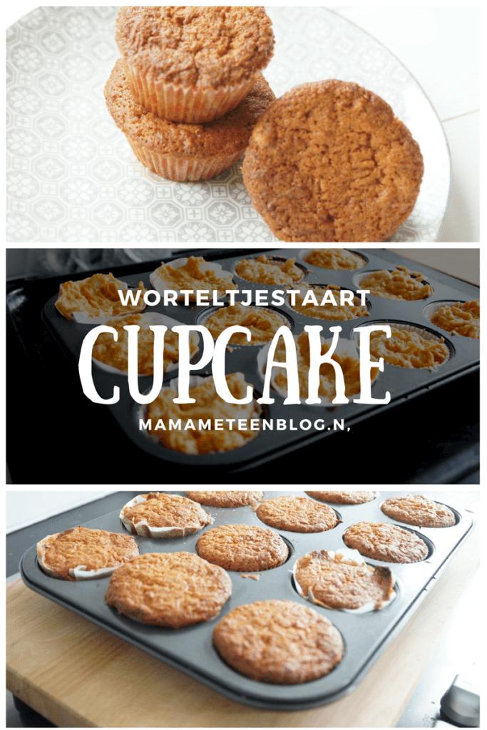 Recept worteltjes cupcakes carrotcake cupcakes Mamameteenblog.nl