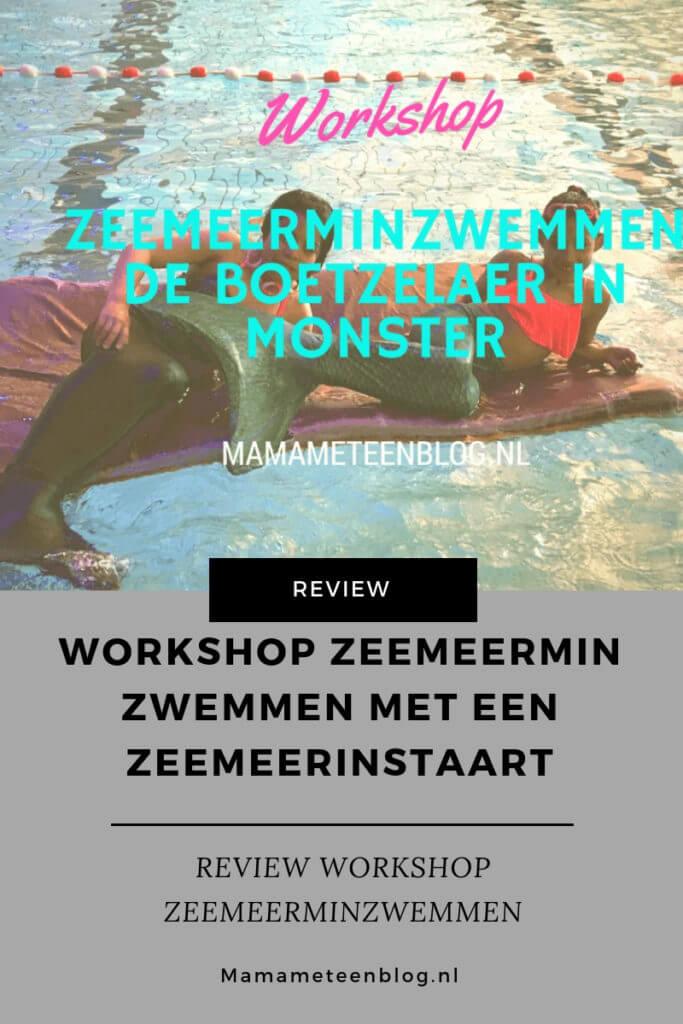 Workshop Zeemeermin Zwemmen met een zeemeerinstaart mamameteenblog.nl