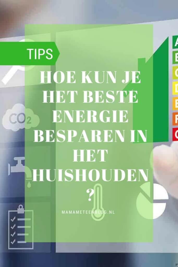 Tips energie besparen huishouden mamameteenblog.nl