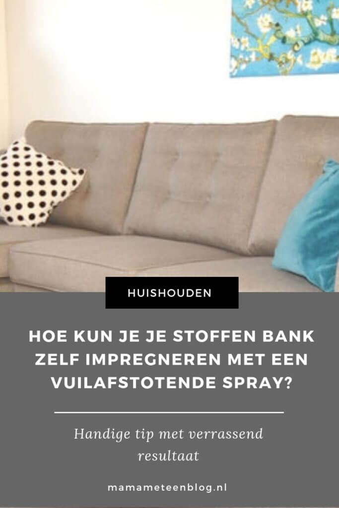Hoe kun je je stoffen bank zelf impregneren met een vuilafstotende spray_mamameteenblog.nl