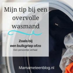 Buikgriep volle wasmand mamameteenblog.nl