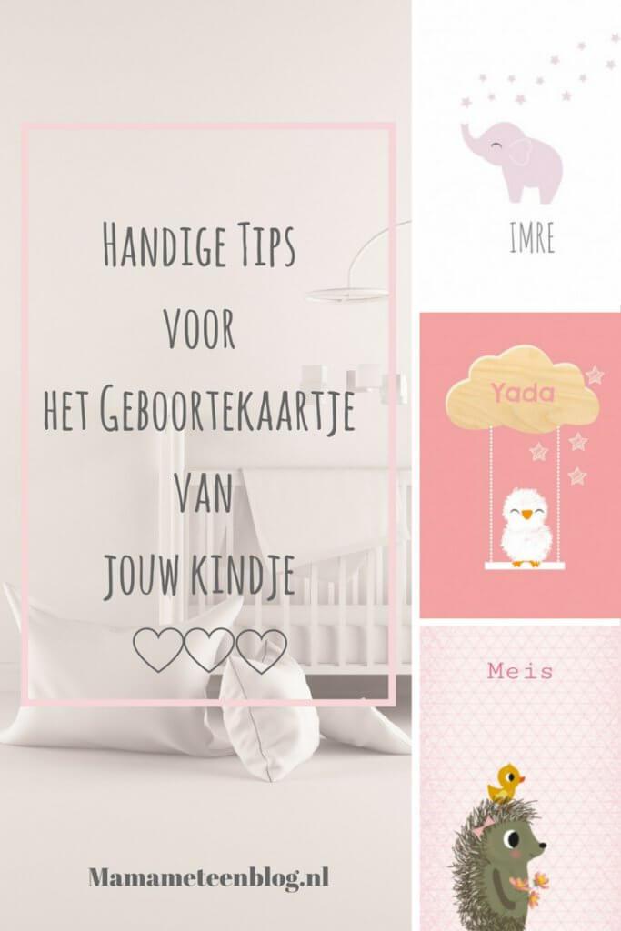 geboortekaartje tips mamameteenblog.nl