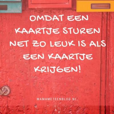 een kaartje versturen onine mamameteenblog.nl