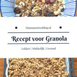 Recept voor Granola om zelf te maken mamameteenblog.nl