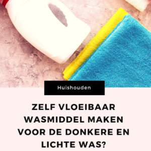 zelf vloeibaar wasmiddel maken mamameteenblog