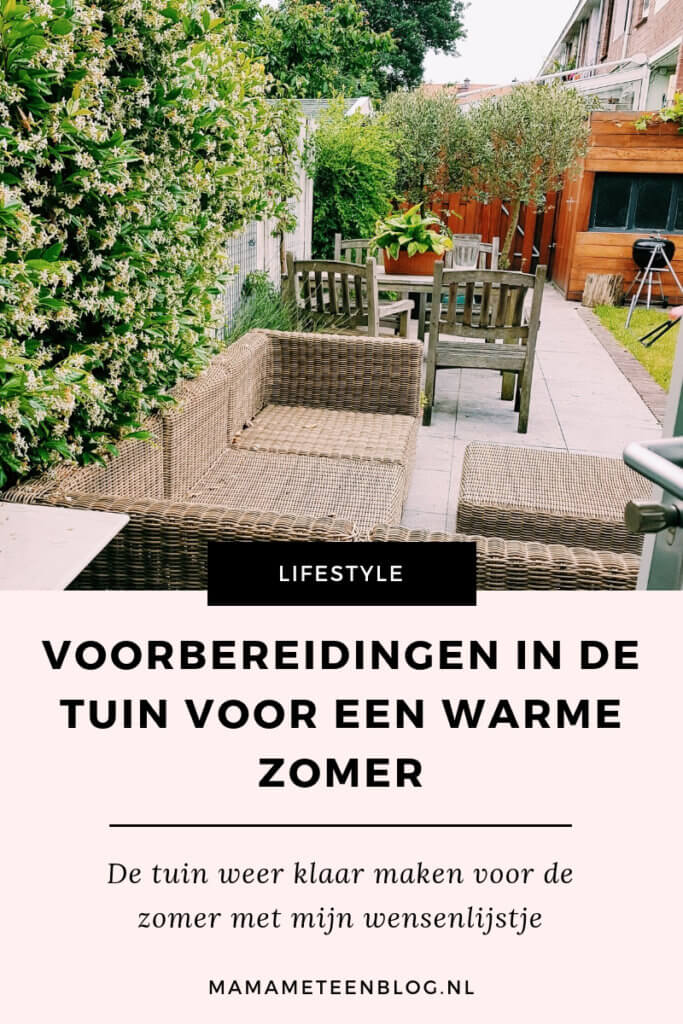 Voorbereidingen in de tuin voor een warme zomer mamameteenblog.nl