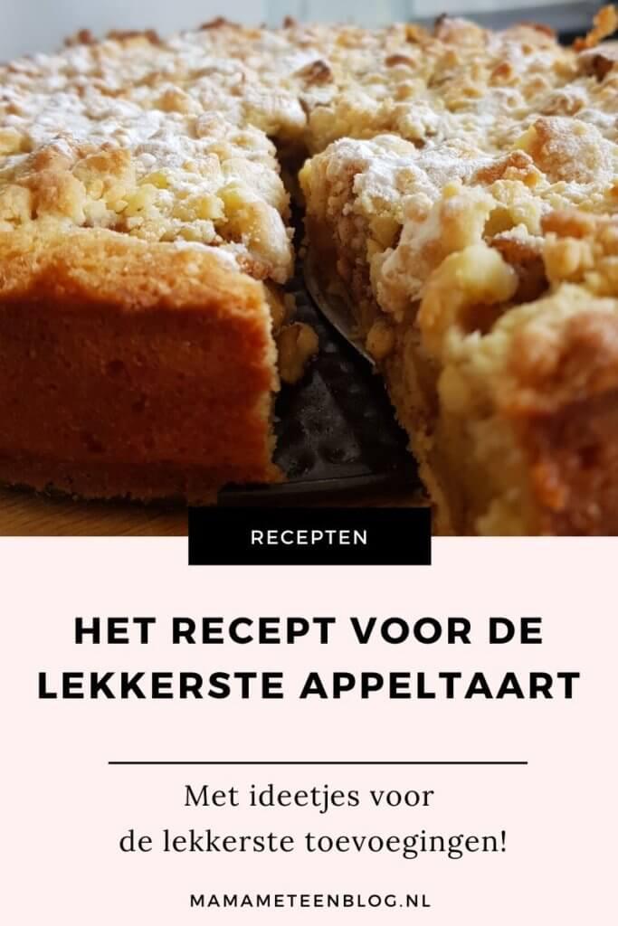 het recept voor de lekkerste apeltaart mamameteenblog.nl