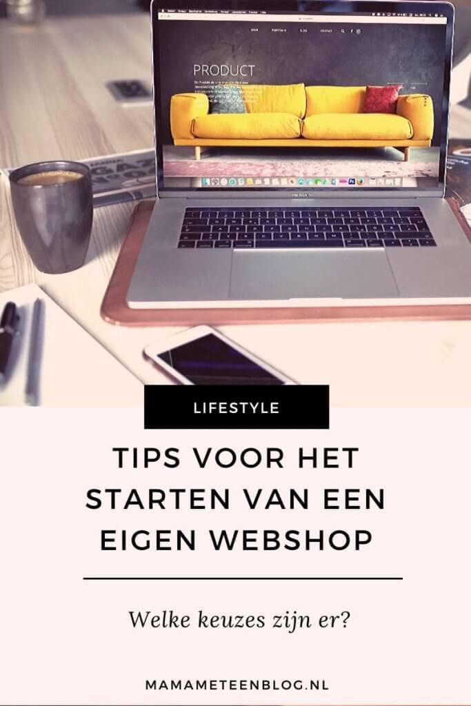 starten webshop Mamameteenblog.nl
