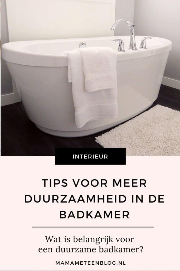 tips duurzaamheid badkamer mamameteenblog.nl