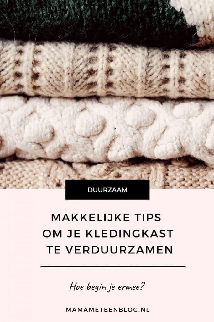 Makkelijke tips om je kledingkast te verduurzamen mamameteenblog.nl
