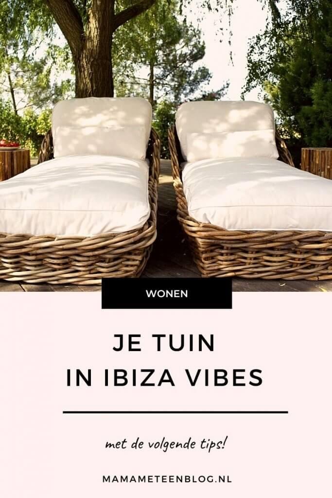 tuin in Ibiza stijl Mamameteenblog.nl