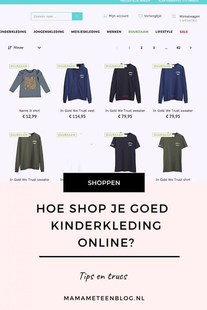 Hoe shop je goed je kinderkleding online Mamammeteenblog.nl